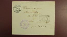 Lettre De Bale Suisse 1916 Pour Le Depot Prisonniers De Guerre Forteresse De  Blaye Gironde Cachet Encadré Romans - Marcophilie (Lettres)