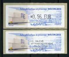 LISA 0,56e   SALON PHILATELIQUE DE PRINTEMPS  MACON 2013  NEUVE ** - 2010-... Geïllustreerde Frankeervignetten