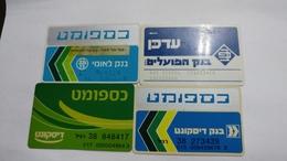 Israel-crediet Card(655)(4 Cards-atm)-used Card+4card Prepiad Free - Cartes De Crédit (expiration Min. 10 Ans)