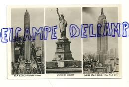 Etats-Unis. New York. RCA Building, Rockfeller Center. Statue Of Liberty Empire State Building. A. Mainzer Vers 1960 - NY - New York