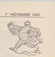 DOCUMENT BULLETIN INTÉRIEUR MICHELIN N °1 - 1943 - RECTO VERSO - Documents Historiques