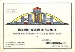 Gd Format Div -format : Environ 15cms X 10cms -ref Y325-guerre 1939-45-chaudfontaine -belgique -monument Stalag - Belgique