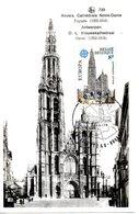 BELGIQUE. N°1886 De 1978 Sur Carte Maximum. Cathédrale D'Anvers. - Churches & Cathedrals