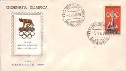 Busta Primo Giorno - Giornata Olimpica Pre Olimpiade  - 1960 - 6. 1946-.. Repubblica