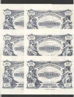 Série Complète De 6  Bons Commerciaux Différents De La Villes De Tours 25 50 100 500 1000 5000 Frs -  Années 50 - Bonds & Basic Needs