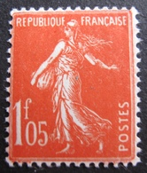 R1680/237 - 1924 - TYPE SEMEUSE - N°195 Vermillon NEUF* - Cote : 10,00 € - France