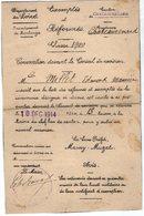 VP13.640 - MILITARIA - CHATEAURENARD 1914 - Convocation Devant Le Conseil De Révision Mr E.M. MILLET - Documents