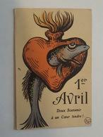 1 Er Avril - Poisson Rehaut Argenté - Doux Souvenir à Un Coeur Tendre - 1° Aprile (pesce Di Aprile)