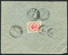 1913 Persia Ahmad Shah 6ch Cover. Recht - Teheran - Isfahan - Iran