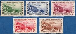 Algerie, 1938 Centennaire De Phillippeville 5 Val. MH Golfe De Stora, Ruines Rusicada, Site Phénicièn, Carthagièn Romain - History