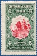 Algerie, 1930 5 Fr + 5 Fr Algiers Mosque Sidi Abderhamane  1 Val. Timbre Plié, Stamp Has Fold - Mosques & Synagogues