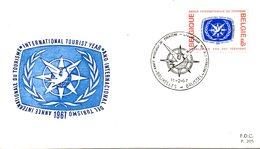 BELGIQUE. N°1407 De 1967 Sur Enveloppe 1er Jour. Année Internationale Du Tourisme. - Holidays & Tourism