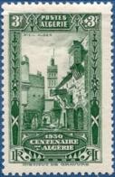 Algerie, 1930 3 Fr + 3 Fr Algiers Vieille Ville 1 Val. MH Old City View - History