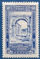 Algerie, 1930 50 + 50 C Ruins De Djemila, Site Romaine, Des Arcs 1 Val. MH Roman City, Arches - Archaeology