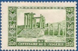 Algerie, 1930 40 + 40 C Ruins De Djemila, Venus Temple, Site Romaine 1 Val. MH Roman City - Archaeology