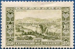 Algerie, 1930 10 + 10 C Constantine Viaduct, 1 Val. MH Bridge - Bridges
