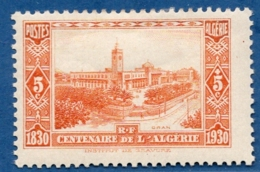 Algerie, 1930 5 + 5 C Oran Station, 1 Val. MH - Trains