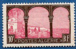Algerie, 1927-1928 10 Fr , 1 Val. MH View From Upper Moustapha - Algeria (1924-1962)