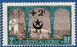 Algerie, 1927 2 + 2 Fr Surcharge Pour Soldats Blessés En Maroc, 1 Val. MH Overprint For Wounded Soldiers Marocco War - Algeria (1924-1962)