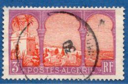 Algerie, 1926 3 Fr Cinquième Arbre, Coin Gauche Amincie 1 Val Obl.- Plate Fault - 5th Tree Middle Arch, Left Corner Thin - Algeria (1924-1962)