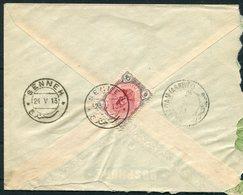 1913 Persia Ahmad Shah 6ch Cover. Senneh - Hamadan - Iran