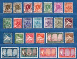 Algerie, 1926 Serie 3 Fr Adherence De Papier, 20 & 35 C Aminci 24 Val * - Algeria (1924-1962)