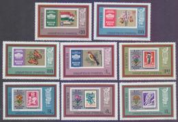 HUNGARY 1973 - IBRA Exposition, Stamp On Stamps, Complete Set Of 8v. MNH - Stamps On Stamps