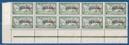 Algerie, 1924 45 Centimes Merson Panneaux De 10 Avec Interpanneaux ** - Algeria (1924-1962)