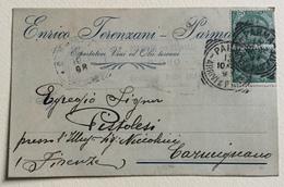 PARMA - ESPORTATORE VINI ED OLII TOSCANI  1908 VIAGGIATA FP - Parma