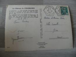 Chambord Recette Auxiliaire Obliteration Sur Lettre - Poststempel (Briefe)