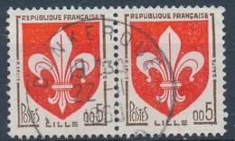 France - YT 1230 Paire Horizontale Obl - Oblitérés
