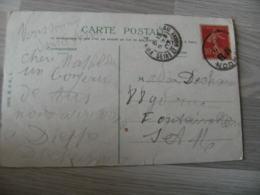 Lettre Obliteration London Sur Timbre Francais Pour Fontainebleau - Marcophilie (Lettres)
