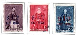 1930 COB 305,306,307 Surcharge B.I.T. Octobre 1930 - Belgique