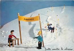 Gd Format :environ 15cms X10cms -ref Y316- Sports D Hiver- Ski -skieurs -skieur -illustrateurs -illustrateur - - Winter Sports