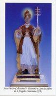Sant'Angelo Limosano CB - Santino SAN PIETRO CELESTINO V - PERFETTO P85 - Religione & Esoterismo