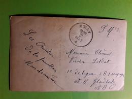 Carte Bouquet De Violettes   En FM De AMAY , Belgique > Soldat Basé à  Moenchengladbach Allemagne, ABO. 1923 - België