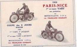 232 H  CPA  La Française Diamant 1926 Paris Nice Car Carte Bon état - Motorräder