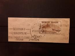 France, Orphelins De La Guerre, Yvert No 230, 50 C + 10 C Brun , Lion De Belfort Obl  Cachet & Flamme POITIERS Vienne TB - Frankreich