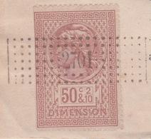 1898 -  TIMBRE FISCAL DIMENSION SUR CERTIFICATION DE RADIATION -  HYPOTHÈQUES CHATELLERAULT VIENNE - - Steuermarken