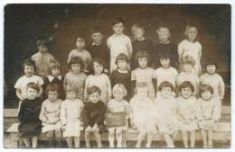RARE CARTE PHOTO VRIZY, PHOTO DE CLASSE, ECOLE, ELEVES, 1936, PROCHE VOUZIERS, ARDENNES 08 - France