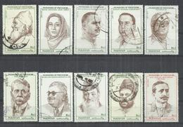 TEN AT A TIME - PAKISTAN 1990-1992 - PIONEERS OF FREEDOM -  LOT OF 10 DIFFERENT 2 - OBLITERE USED GESTEMPELT USADO - Pakistan