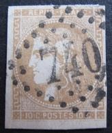 R1680/248 - CERES EMISSION DE BORDEAUX N°43A - GC 740 :CARPENTRAS (Vaucluse) - Cote : 90,00 € - 1870 Bordeaux Printing