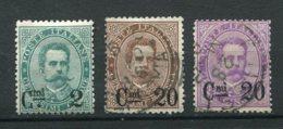 10227  ITALIE  N° 52/4°/*  Timbres De 1879 Surchargés   1890-91  B/TB - 1878-00 Humbert I