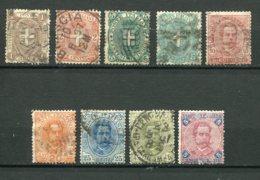 10228  ITALIE  N° 55/63°/(*)  Armoiries De La Maison De Savoie Et Humbert 1er   1891-97  B/TB - 1878-00 Humbert I
