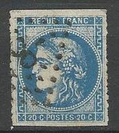 BORDEAUX N° 46B Percé En Ligne OBL TB - 1870 Bordeaux Printing