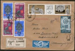 MAROKKO, Royaume Du Maroc, R-Brief 1966  Von CASABLANCA Nach GREVEN - Morocco (1956-...)