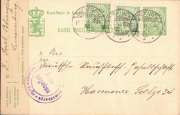 Postal History: Luxembourg Postal Stationary - Stamped Stationery