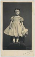 CDV 1860-70 Nelzire Alexandre Le Breton à Cette . Sète . Beau Portrait De Fillette élégante . Chapeau . Mode . - Anciennes (Av. 1900)