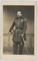 CDV Militaire 1860-70 Teruel à Nevers . Capitaine D'Infanterie . 71 Sur Le Shako . - Anciennes (Av. 1900)