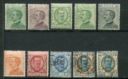 10249  ITALIE  N° 178/85*/°    Victor-Emmanuel III  1925-27  B/TB - 1900-44 Victor Emmanuel III